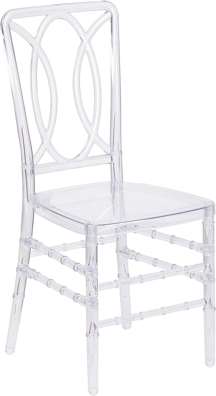 Flash Furniture Flash Elegance Crystal Ice Stacking Chair with Designer Back