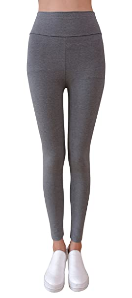 b6d7b241b9d38b IRELIA Winter Womens Fleece Lined High Waisted Leggings Heather Gray ...