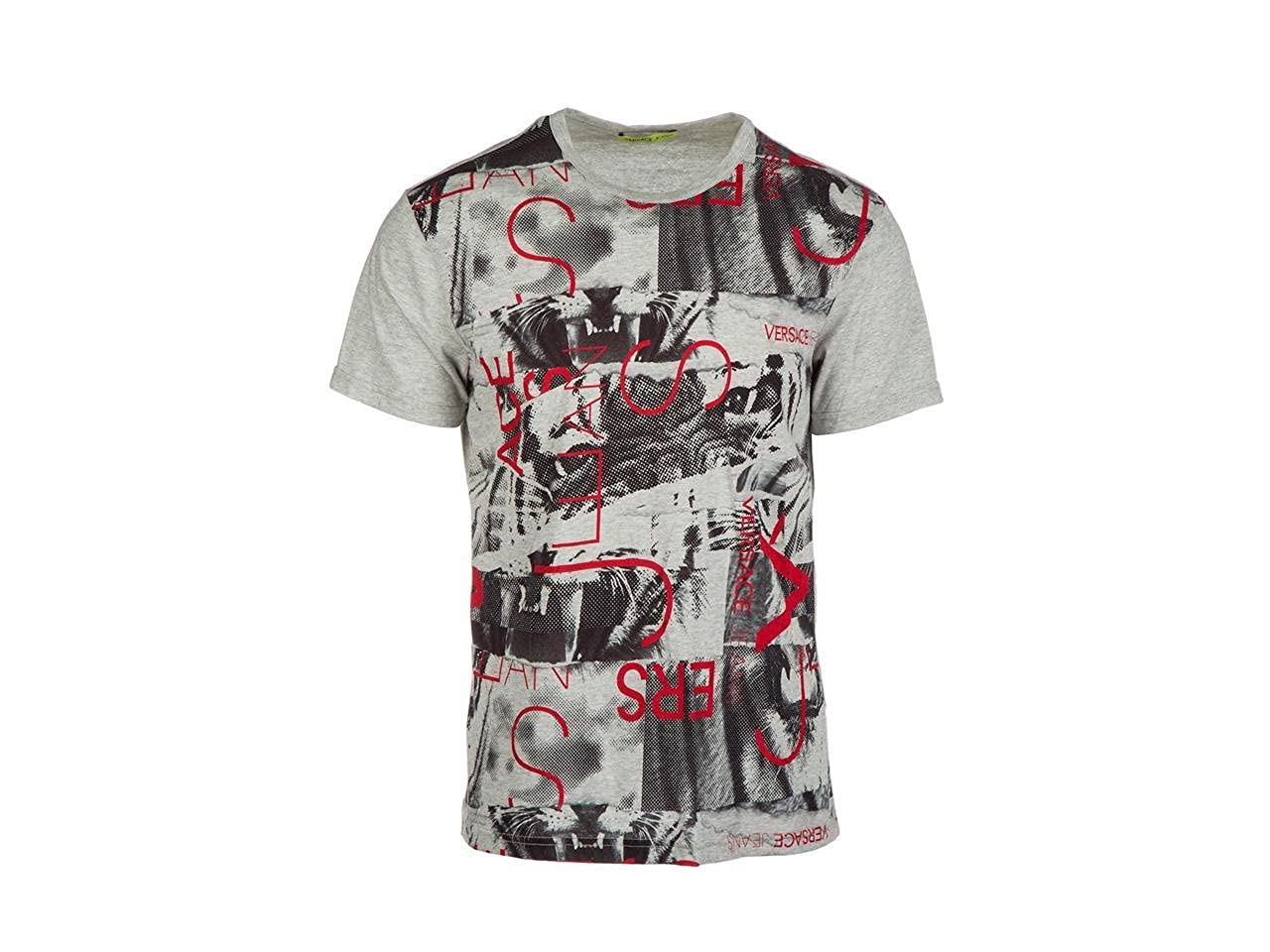880a5adc73a8 Amazon.com  Versace Jeans Crew Neck Grey T-Shirt (Small)  Clothing