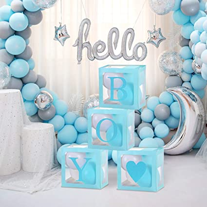 Boys Baby Shower Balloon Baby Boys Gender Reveal Decor 10 Pack of 12 Its a Boy Balloons Baby Shower Decorations Blue Latex Balloons