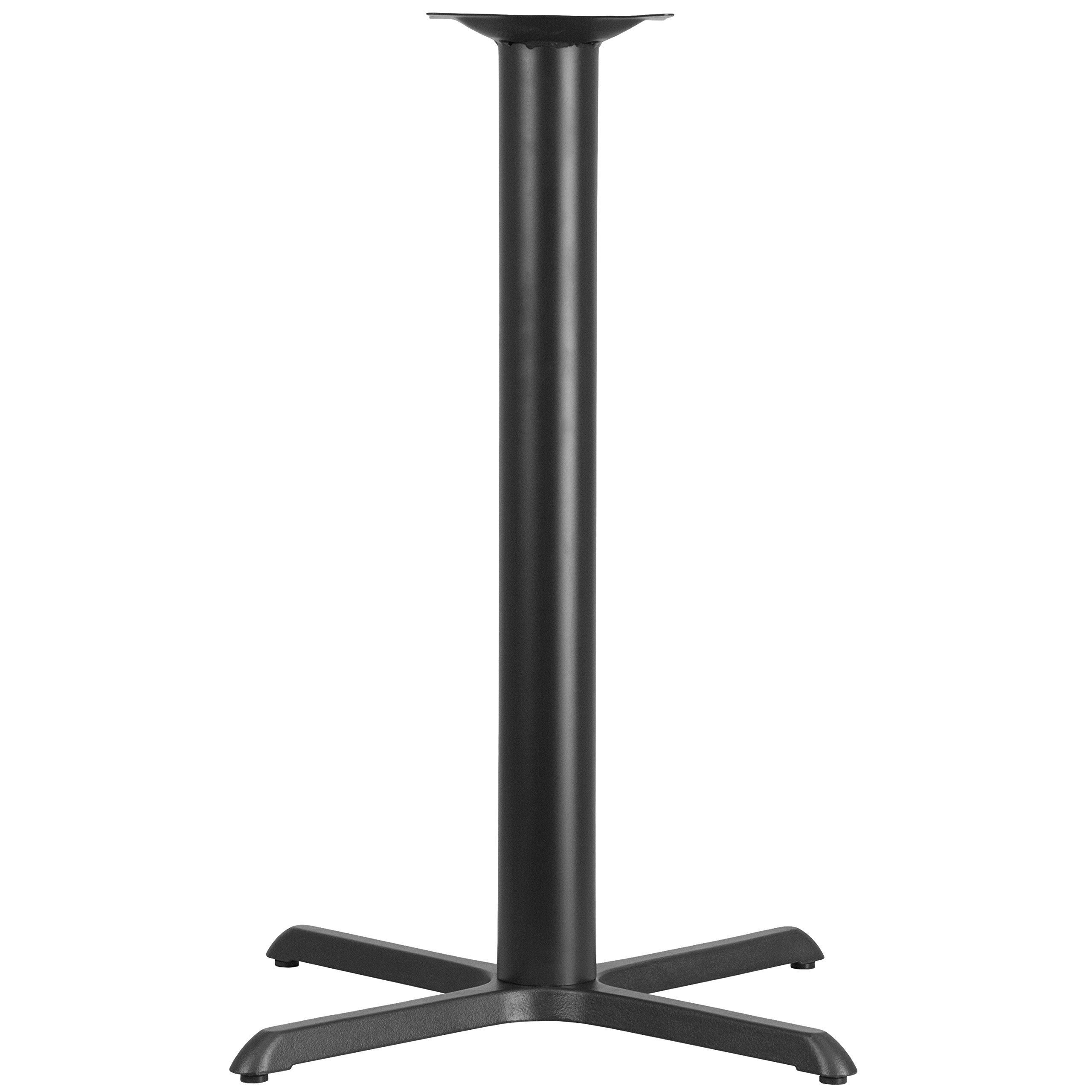 Flash Furniture 33'' x 33'' Restaurant Table X-Base with 4'' Dia. Bar Height Column by Flash Furniture