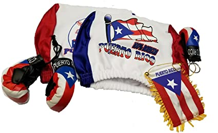 Amazon.com: 5pcs Puerto Rico reposacabezas Cover – Guante de ...