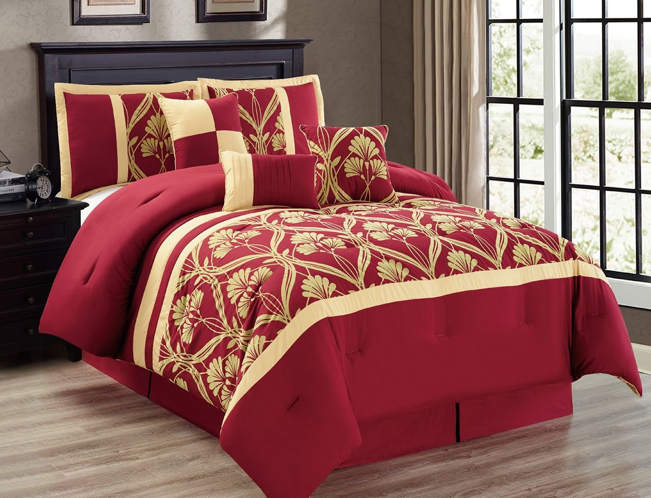 Burgundy bedding sets cheap sale ease bedding with style for Burgundy and gold bedroom designs