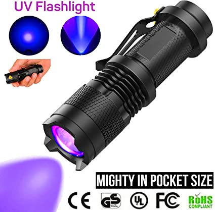 Torcia UV Luce Nera animali domestici cani gatti rilevamento macchie di urina RIVELATORE Ultra Violet