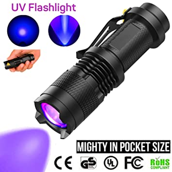 LED UV 395 nm Schwarzlicht Taschenlampe Inspektionsleuchte Torch gs