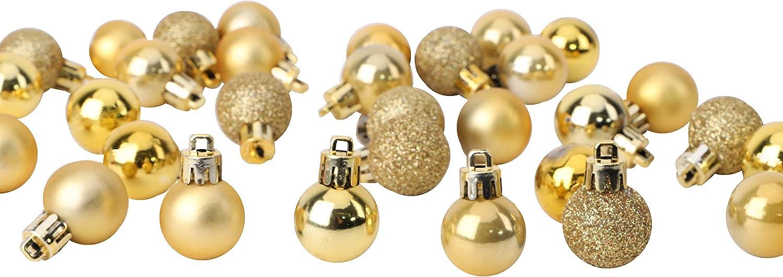 Or Mini Boules de No/ël 32 x 25 mm D/écorations pour Arbres de No/ël