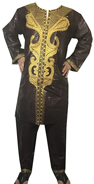 Amazon.com: decoraapparel Hombres Pant africanos Suit ...