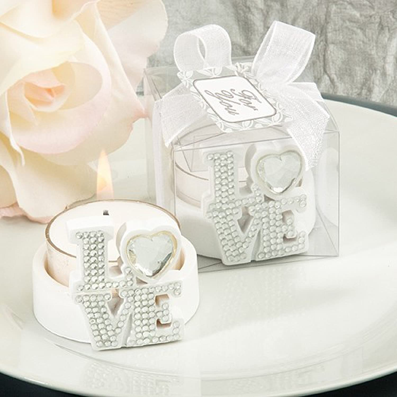 LOVE Design Candle Holder Favours
