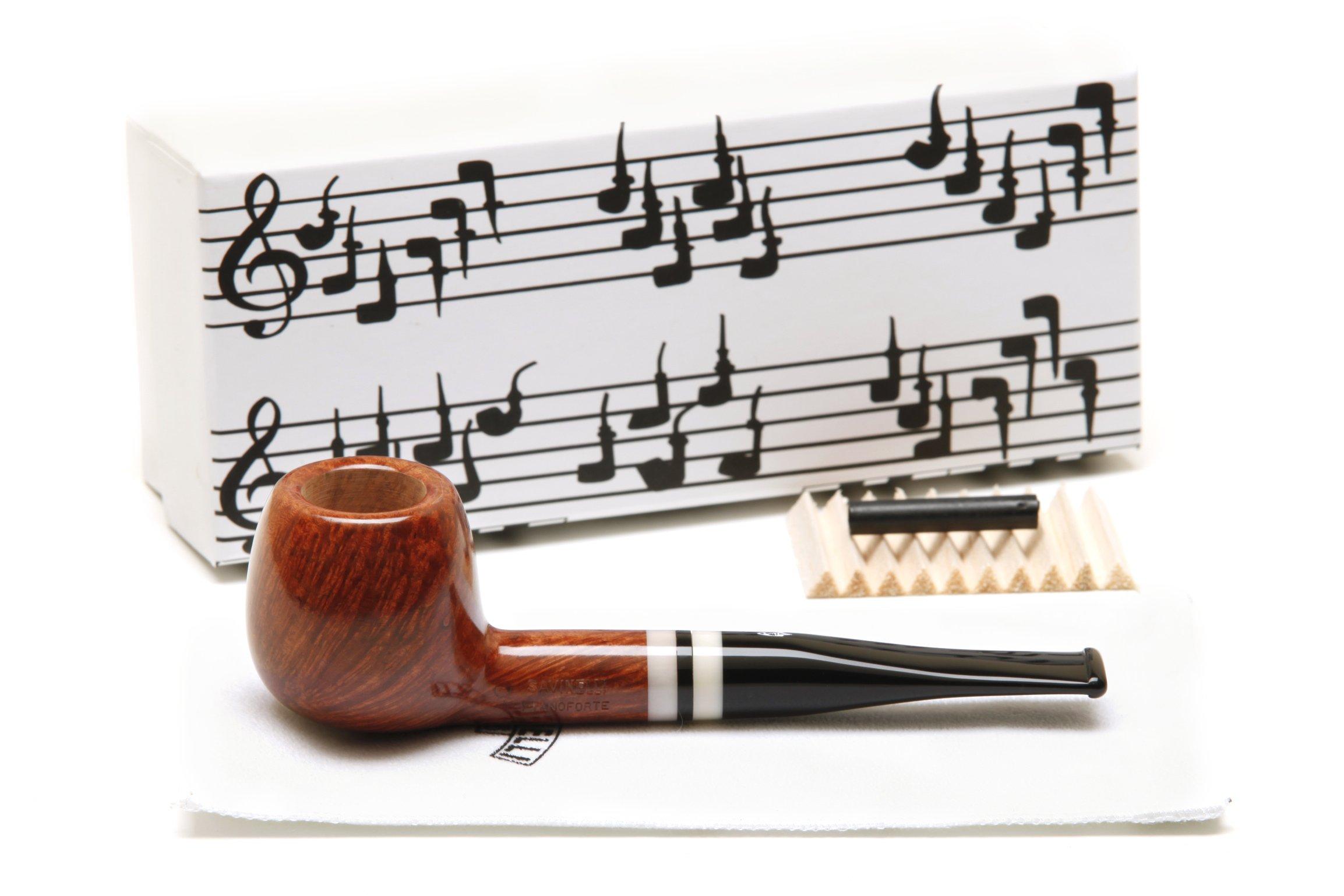 Savinelli Pianoforte 207 Smooth Tobacco Pipe