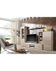 ab price209 90 wohnwand wohnzimmerschrank anbauwand tv element cannes in eiche