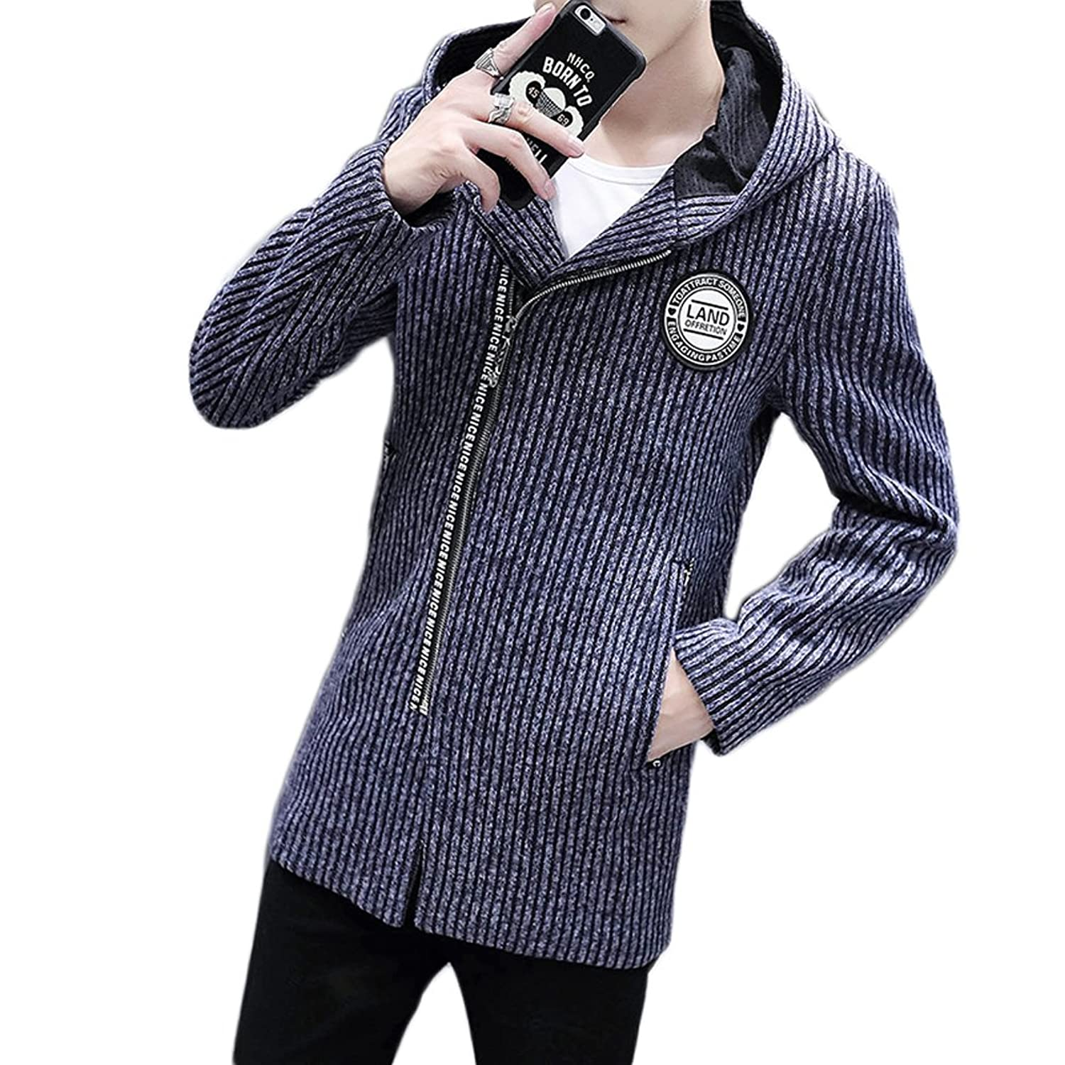 KA Beauty Autumn Winter Men's Knit Thick Sweater Coat Casual Jacket