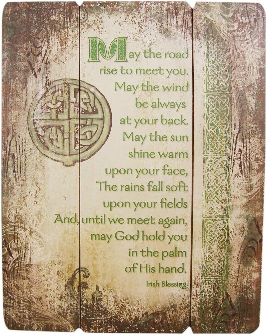 Autom Irish Blessing Wood Pallet Sign Wall Plaque, 15 Inch
