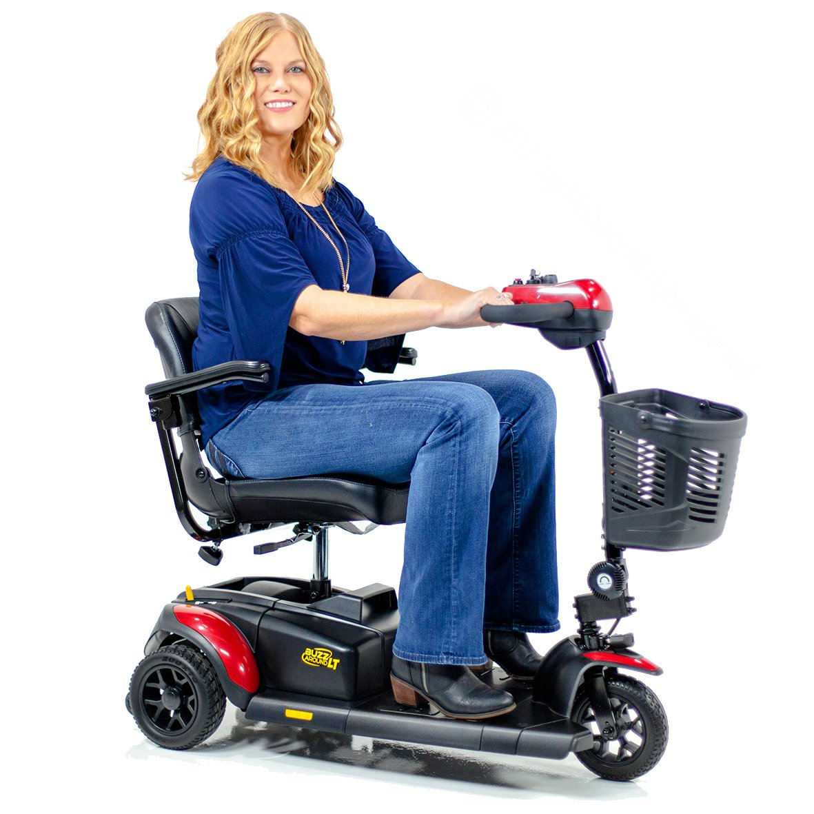 BUZZAROUND LT 3-Wheel Small Portable Travel Mobility Scooter GB107