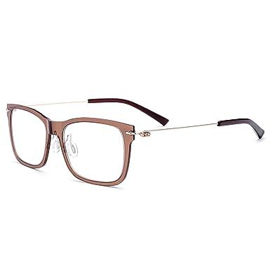 202e8605dc3 FONEX Nylon Titanium Alloy Men Square Myopia Optical glasses Frames 7101  (tea