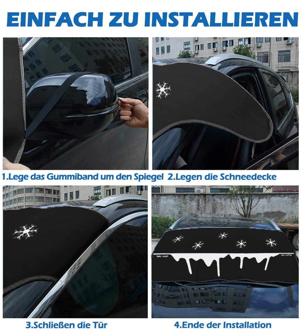Hippo Sonnenschutz Auto Sonnenblende Auto Frontscheibe f/ür UV Schutz geeignet f/ür alle Fahrzeug