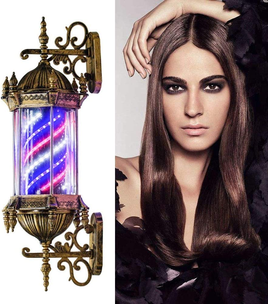 Color : 1piece DSFX Barbershop Pole Barber Pole Light Led,Outdoor Retro Style Rotating Hair Salon Barber Shop Open Sign Red White Blue Strips Wall-Mounted Waterproof Save Energy