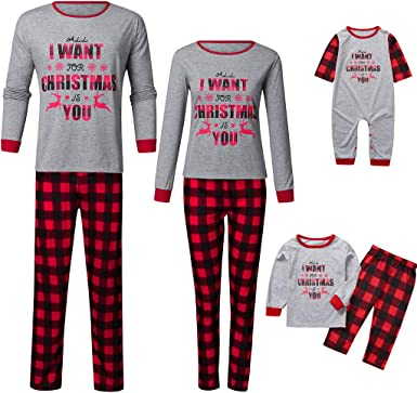 K-Youth Ropa para Padres e Hijos Pijamas Familiares Navideñas ...