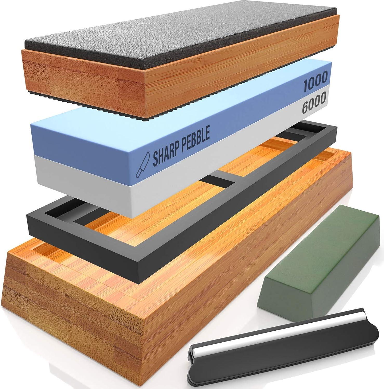Whetstone Fixer with Grooves Two Sharpening Stones Flattener KAPAYONO Dual Grit Coarse//Fine Flattening Stone Set