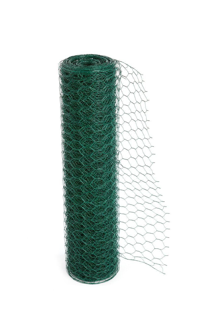 Easipet PVC Coated Green Chicken Wire Fencing in 3 widths 50m length (1200mm) (817)