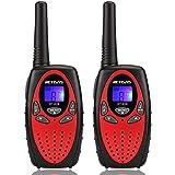 Retevis RT628 Walkie Talkie Niños PMR446 8 Canales 10 Tonos de llamada VOX Bloqueo de Teclado Volumen Ajustable Walkie Talkie Niñas Juguete Regalo para Niños (Rojo,1 par)