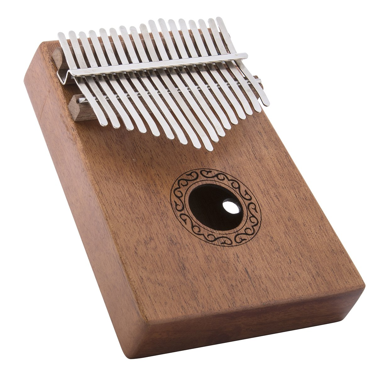 Deekec 17 key Kalimba Thumb Piano with Instruction and Tuner Hammer, Portable Mahogany Body ¡­