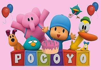 Amazon.com: sdore Pocoyo rosa niñas Comestible 1/4 Hoja ...