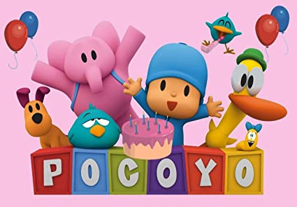 SDore POCOYO PINK GIRLS Edible 1/4 Sheet Image Frosting Cake Topper Birthday Party