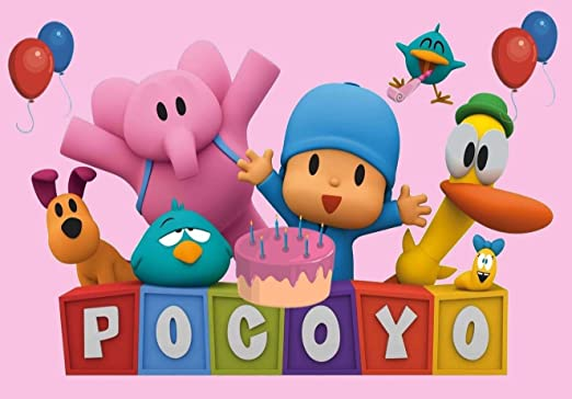 cakeusa Pocoyo rosa niñas fiesta cumpleaños Decoración para ...