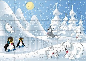 Trudi - Puzzle Polo Norte, 36 Piezas (31004): Amazon.es: Juguetes ...