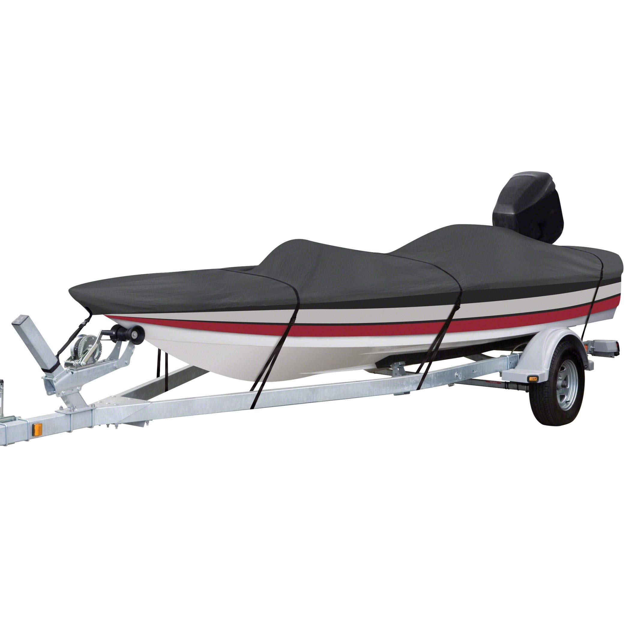 Classic Accessories StormPro Heavy-Duty Boat Cover With Support Pole For Bass Boats, Fits 14' - 16' L x 90'' W by Classic Accessories