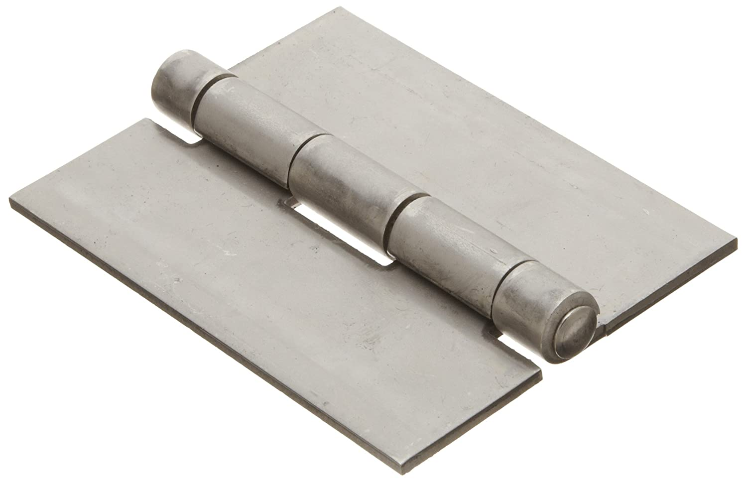 Stainless Steel 304 Surface Mount Butt Hinge without Hole, 2B Mill Finish, 0.120' Leaf Thickness, 3' Open Width, 1/4' Pin Diameter, 4' Long, Non-Removable Pin (Pack 1) 0.120 Leaf Thickness 3 Open Width 1/4 Pin Diameter 4 Long Marlboro