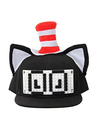 5af700a5fc34a Image Unavailable. Image not available for. Color  BRICKY BLOCKS Dr. Seuss  Cat in The Hat Build-On Snapback Kit ...