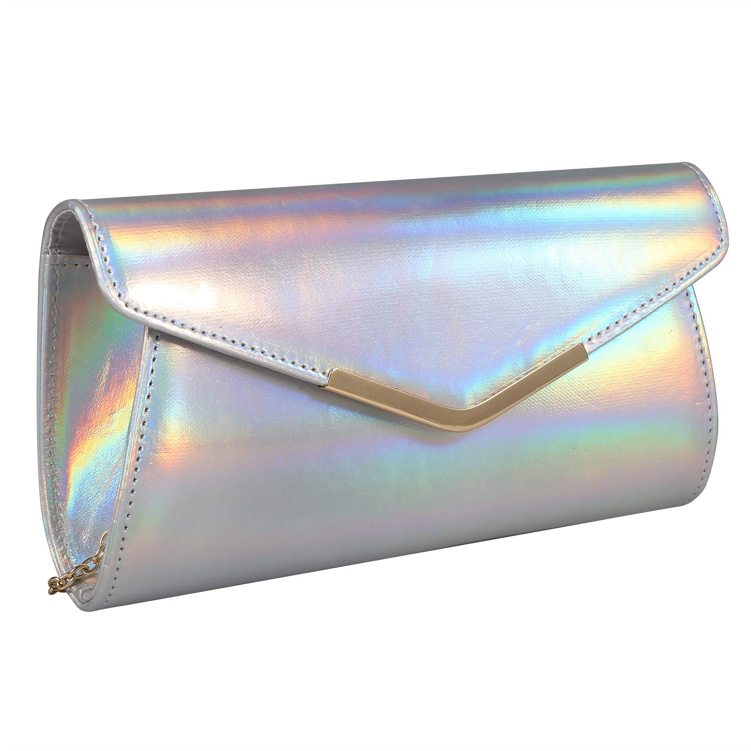 Iridescent Leather Evening...