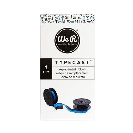 American Crafts Tinta Azul Claro para Máquina De Escribir Typecast Typewriter We R Memory Keepers