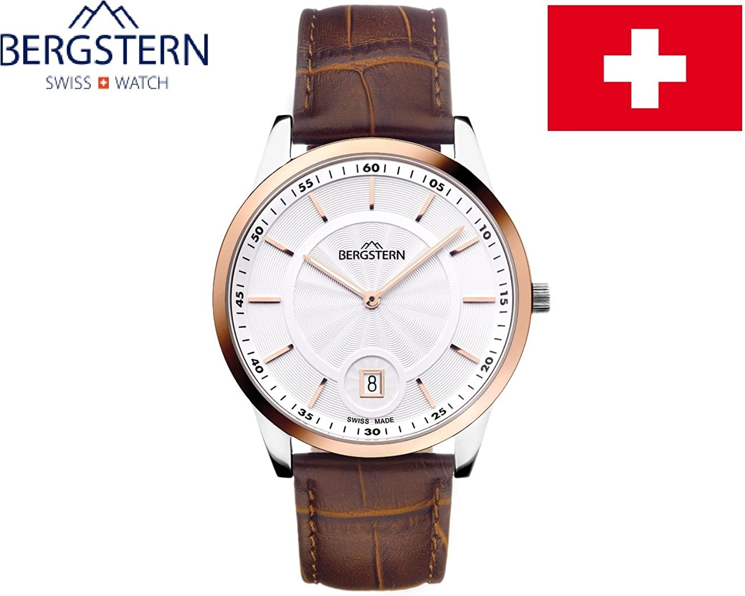 ARMBANDUHR MEN'S COLLECTION HARMONY BERGSTERN B006G035 .made SWISS whatch hoher QualitÄt MADE IN SVIZZERA.Cinturino