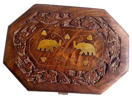 Amazon yadnesh wooden jewelry box octagonal handcrafted