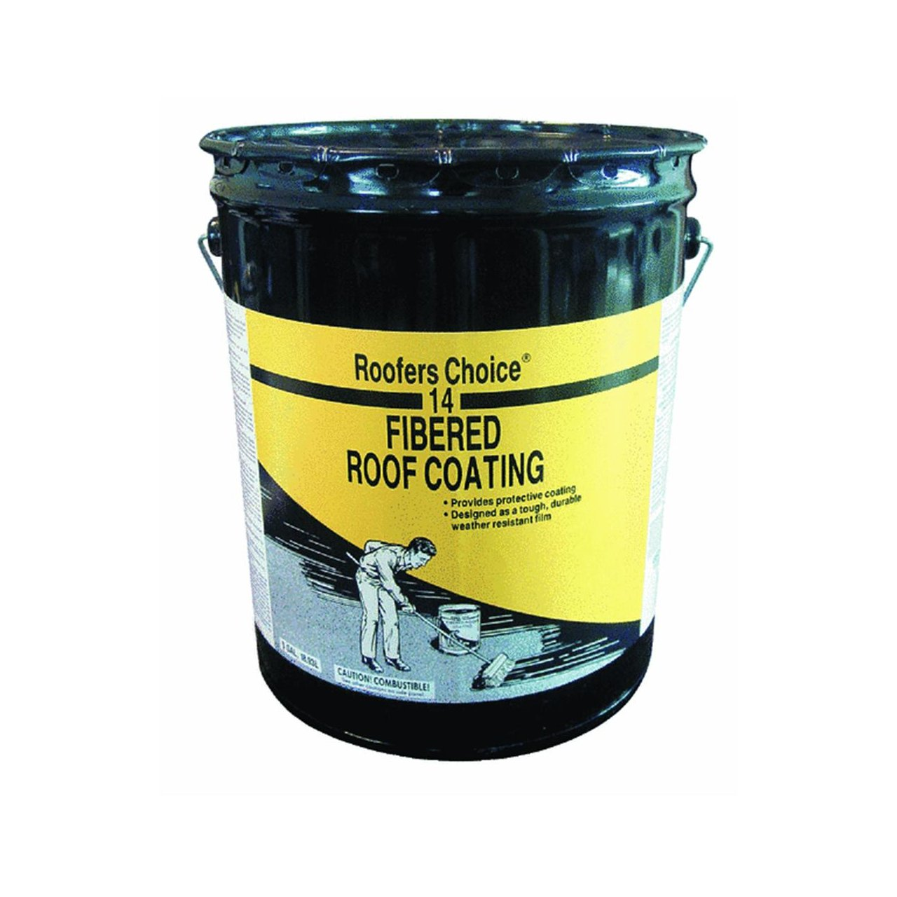 Roofers Choice RC014070 Fibered Roof Coating, 5 Gallon Container:  Industrial Coatings: Amazon.com: Industrial U0026 Scientific