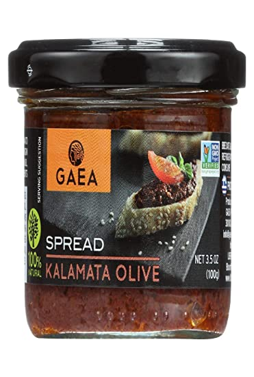 GAEA Kalamata Olive Spread - Bruschetta (6 Count of 3.5 oz Jars) All-