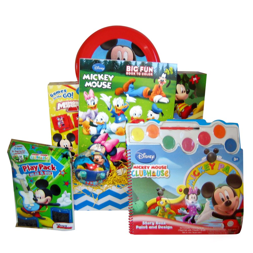 amazon com gift basket for kids mickey mouse activity birthday