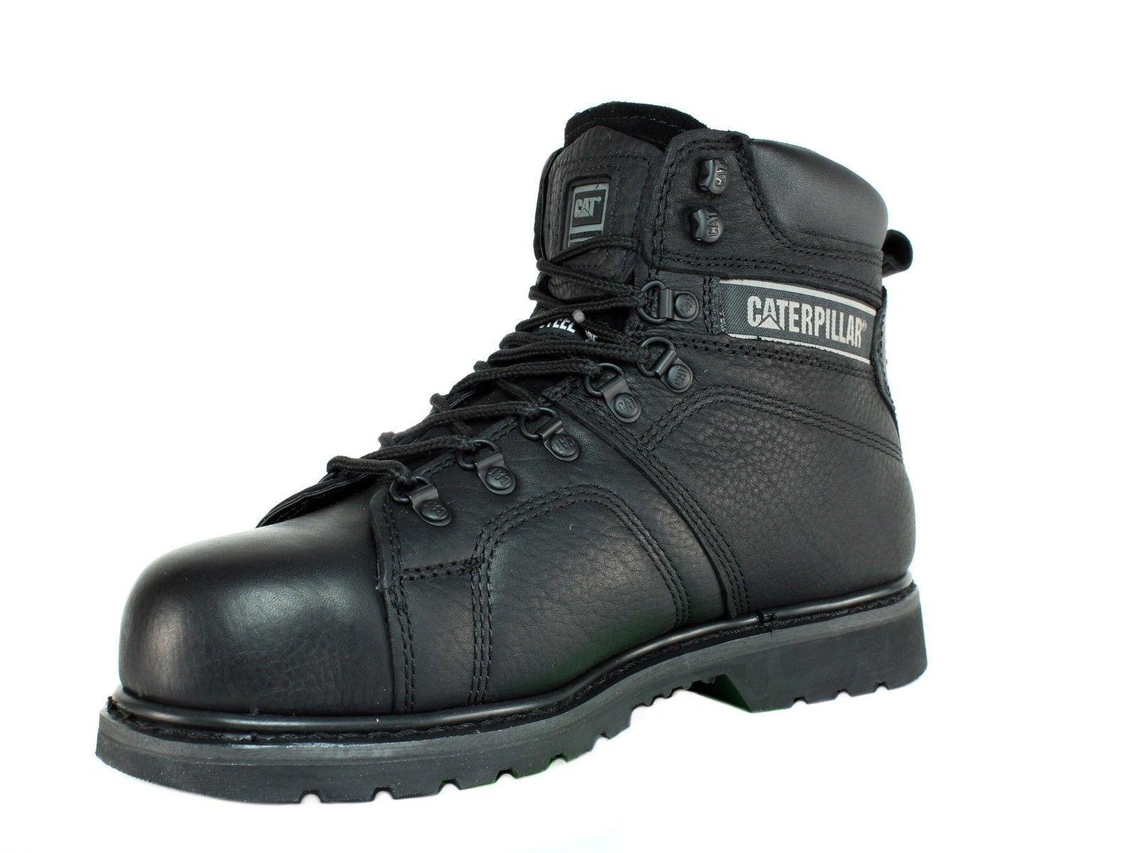 Caterpillar SureGrip Mens Silverton SG Black Slip Resistant Work Boots 12M by Caterpillar (Image #7)
