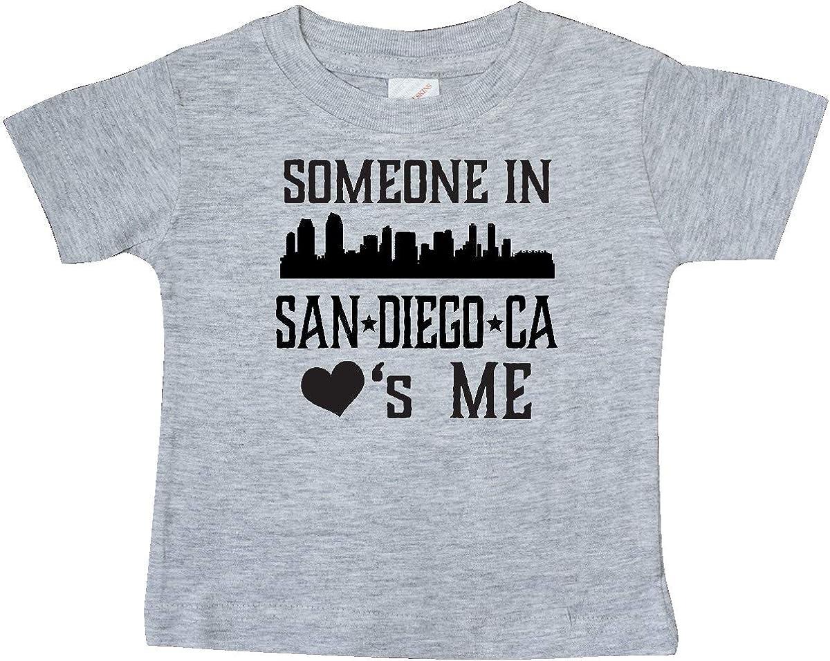 inktastic San Diego California Someone Loves Me Skyline Baby T-Shirt