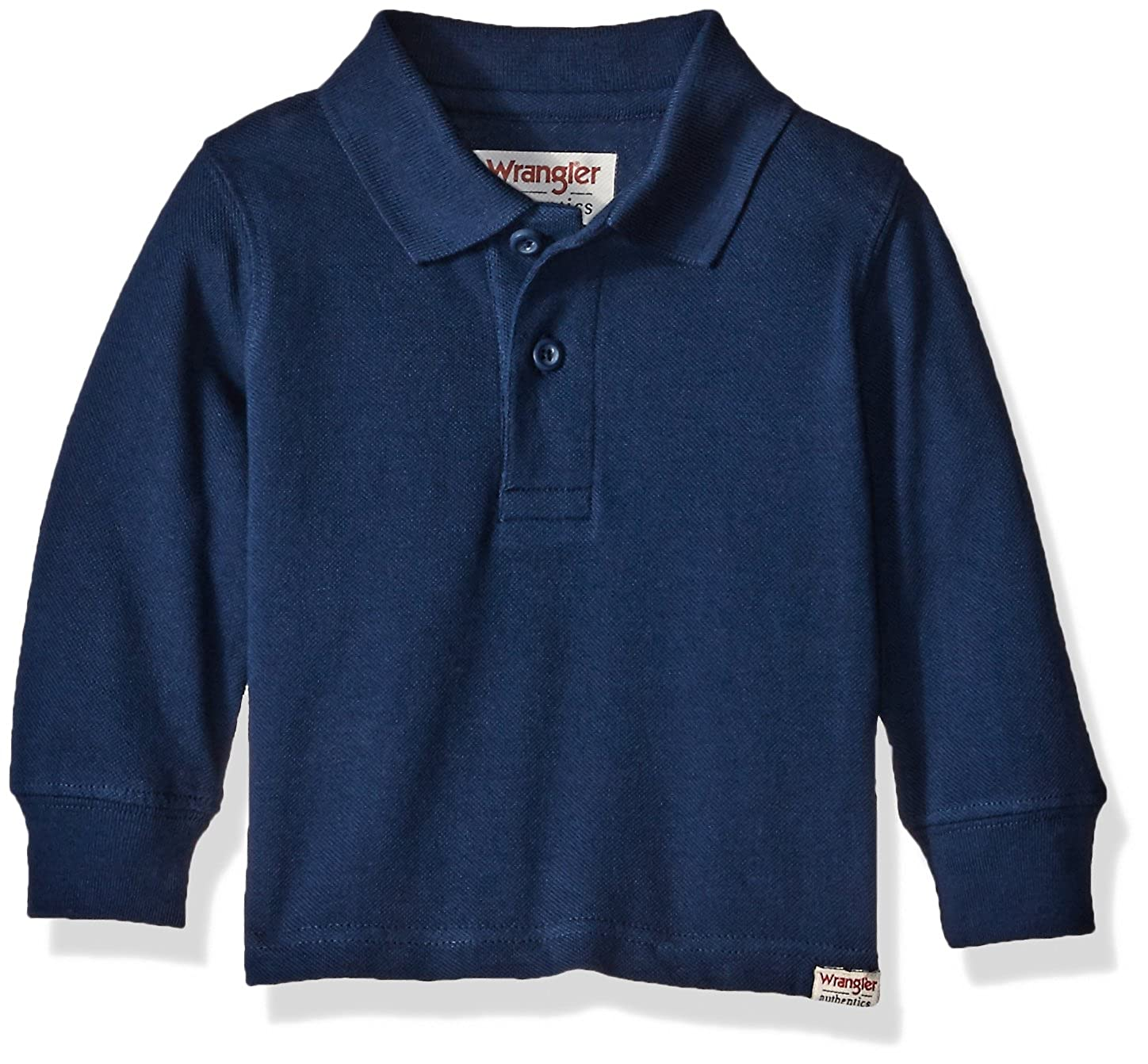 Wrangler Authentics Infant & Toddler Baby Boys' Long Sleeve Knit Polo ZI0LP