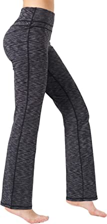 Zeronic Women's Bootcut Yoga Pants High Waist Tummy Control Long Bootleg Work Pants Workout Running Flare Pants for Women