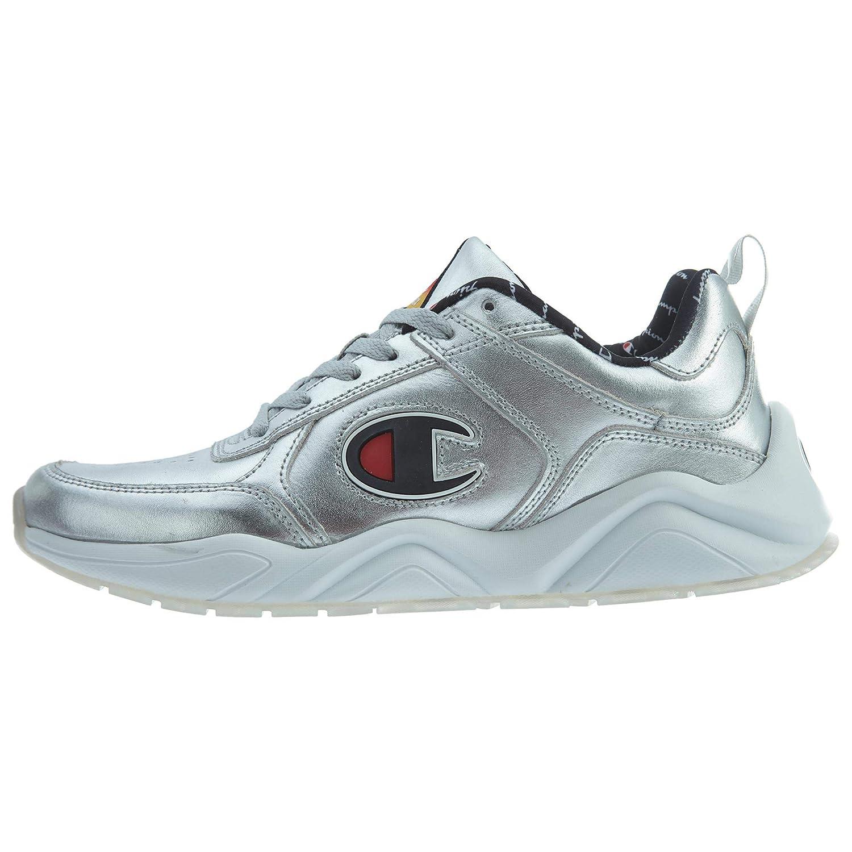 Silver Champion Mens 93Eighteen Metallic Casual Fashion Sneakers