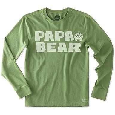 56846a5acf1 Life is Good. Men s Crusher Tee - Papa Bear - Treetop Green (Medium ...