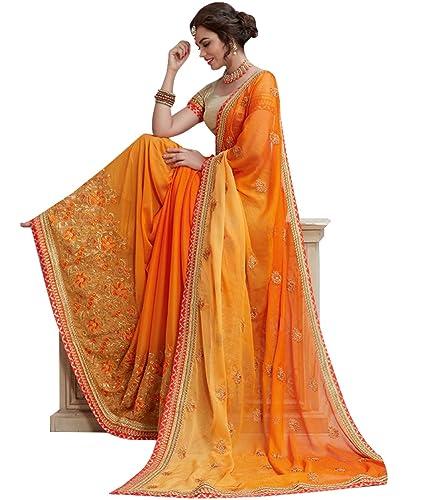 Simaaya -  Vestito  - avvolgente - Donna multicolore Ombre Golden Orange Taglia unica