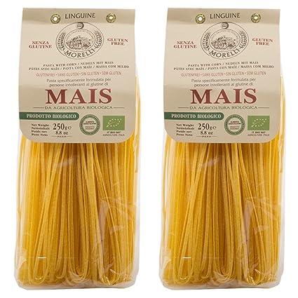 Morelli Italiano sin gluten Linguine Mais Pasta fabricadas ...