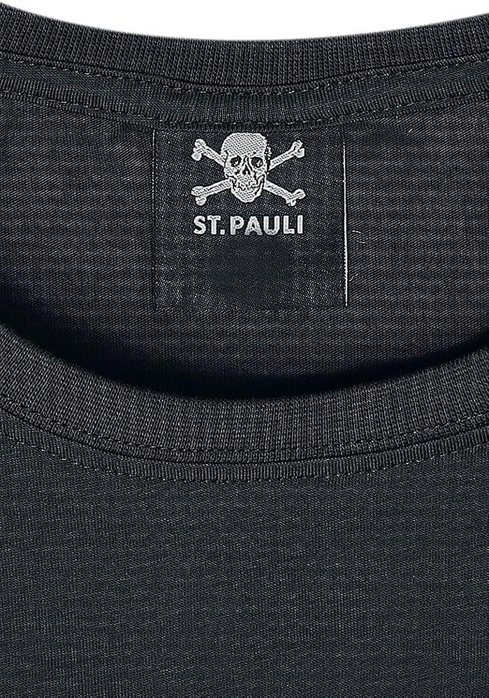 FC St. Pauli Skull Hombre Camiseta Negro, [Effekte/Besonderheiten ...
