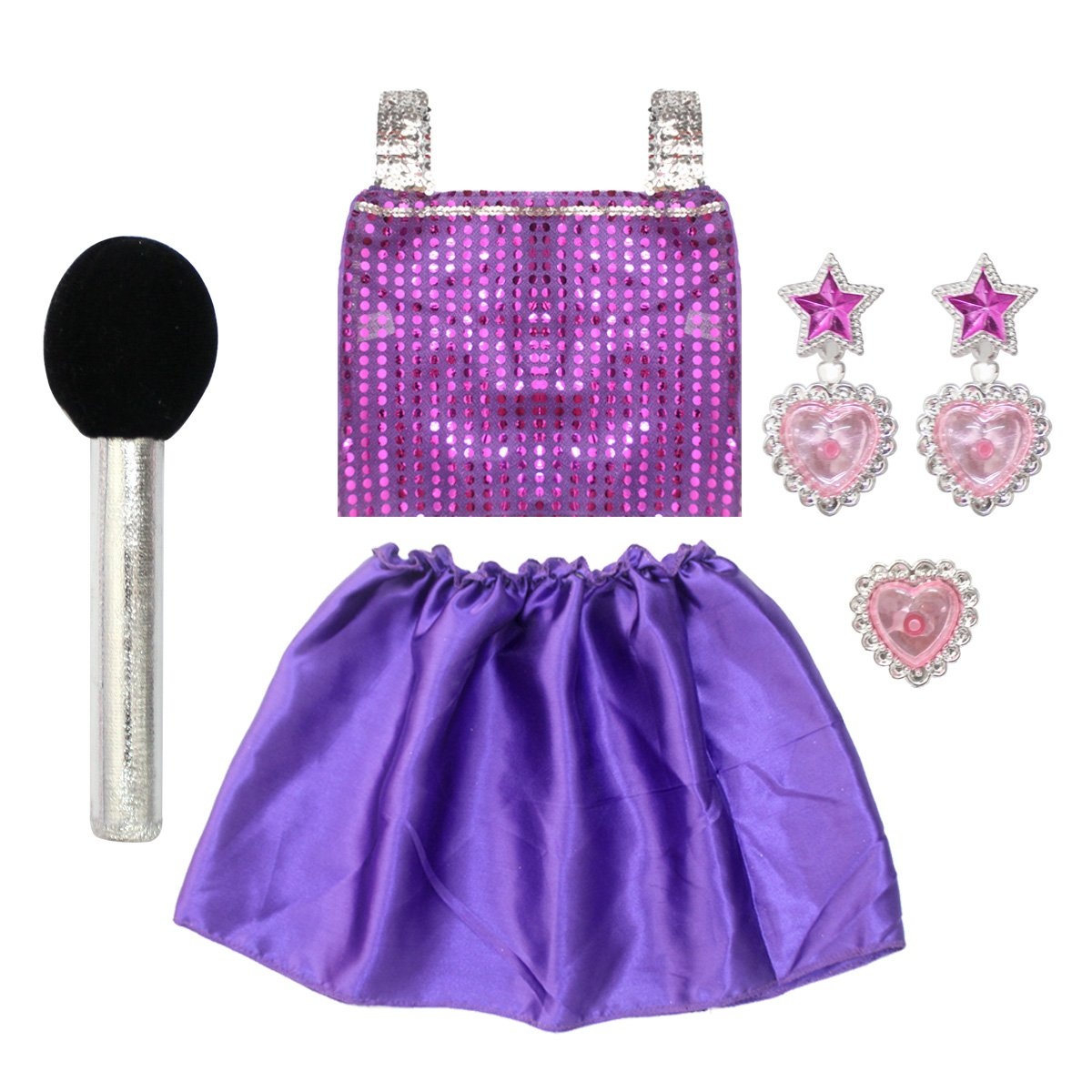 Amazon.com: 20PCS Girls Role Play Dress up Trunk Pretend Play ...
