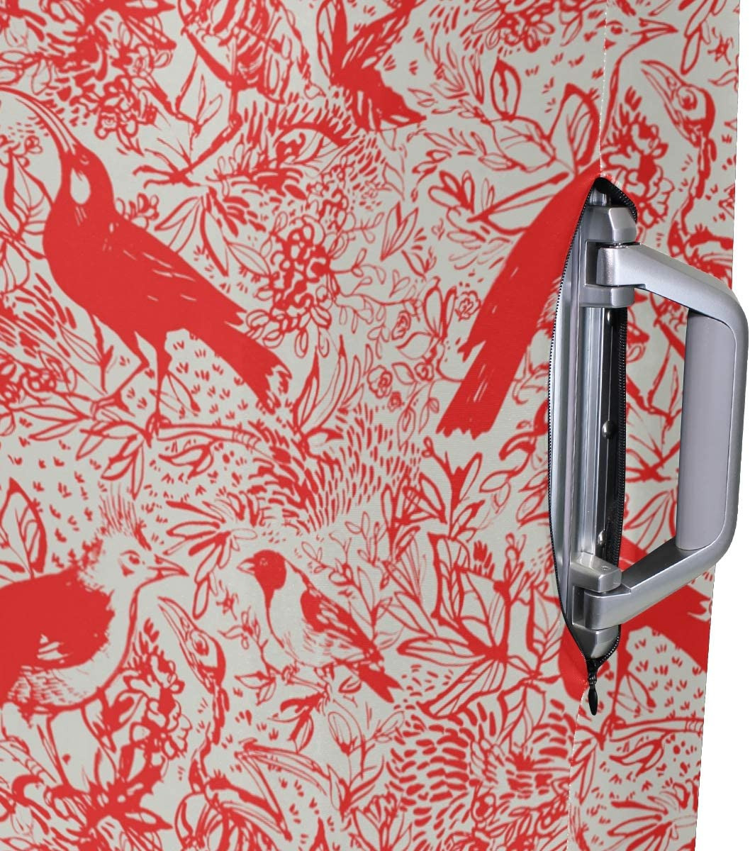 MALPLENA Blood Red Birds Painting Luggage Protector Suitcase Cover